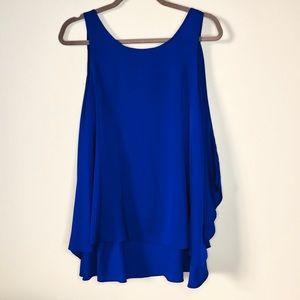 BCBG Maxazria Royal Blue Sleeveless Low Back Tunic